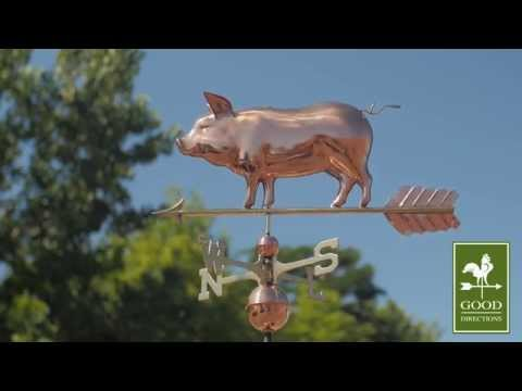 Good Directions 9550P Country Pig Weathervane - Polished Copper