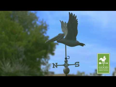 Good Directions 9509V1 Pelican Weathervane - Blue Verde Copper