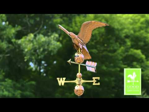 Good Directions 955P Smithsonian Eagle Weathervane - Polished Copper