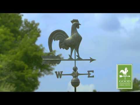 """Good Directions 501V1 25"""" Rooster Weathervane - Blue Verde Copper"""