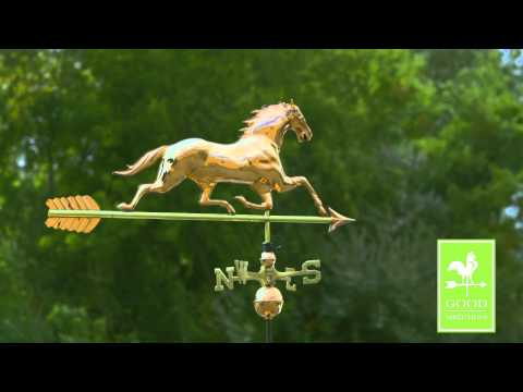 Good Directions 580PA Horse With Arrow Weathervane - Polished Copper