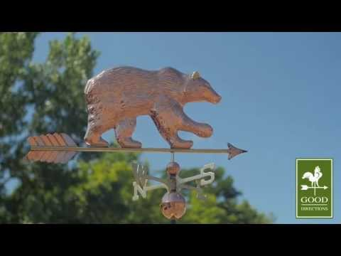 Good Directions 695PA Bear with Arrow Weathervane - Polished Copper