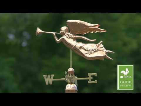 Good Directions 630P Angel Weathervane - Polished Copper