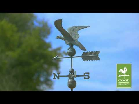 Good Directions 955V1 Smithsonian Eagle Weathervane - Blue Verde Copper