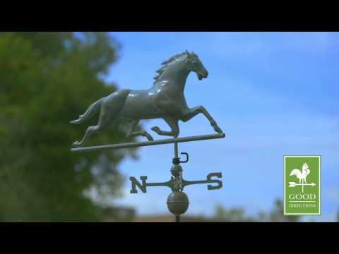 Good Directions 580V1 Horse Weathervane - Blue Verde Copper