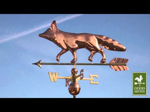 Good Directions 655P Fox Weathervane - Polished Copper