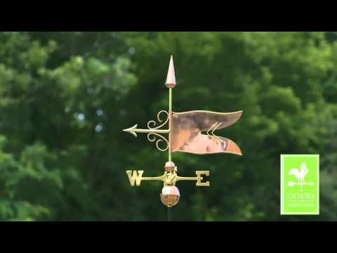 Good Directions 9628P Banner Weathervane - Polished Copper