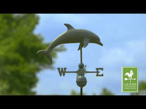 Good Directions 9507V1 Dolphin Weathevane - Blue Verde Copper