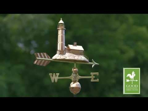 Good Directions 624P Lighthouse Weathervane - Polished Copper