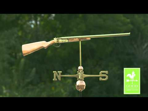 Good Directions 693P Shotgun Weathervane - Polished Copper