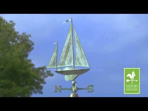 Good Directions 9907SV1 Yawl Weathervane - Blue Verde