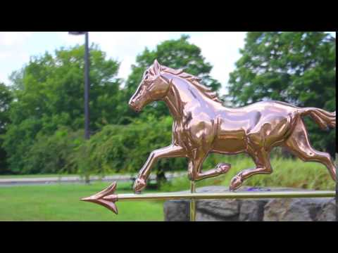 Good Directions 967P Trotting Horse Weathervane - Polished Copper