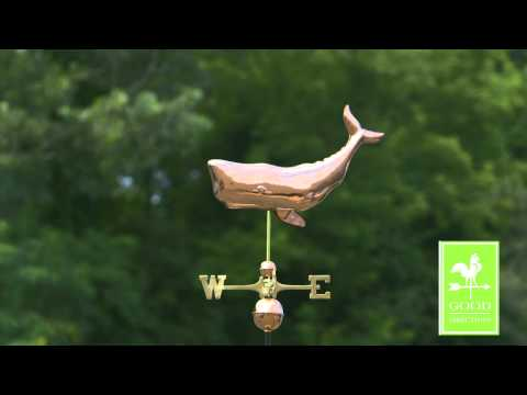 Good Directions 9660P Whale Weathervane - Polished Copper