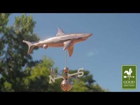 Good Directions 965P Shark Weathervane - Polished Copper