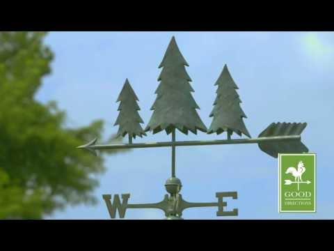 Good Directions 625V1 Pine Trees Weathervane - Blue Verde Copper