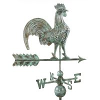 501v1 rooster weathervane blue verde copper
