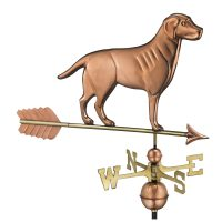 560pa labrador retriever weathervane with arrow pure copper