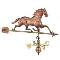 580pa horse weathervane with arrow pure copper