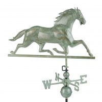 580v1 horse weathervane blue verde copper