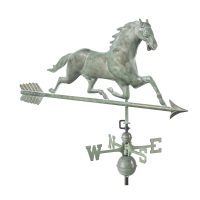 580v1a horse weathervane with arrow blue verde copper