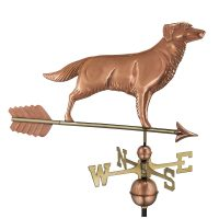 644pa golden retriever weathervane with arrow pure copper