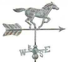 801v1r horse cottage weathervane blue verde copper