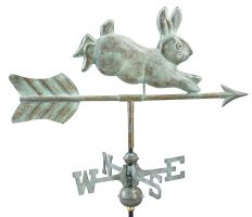 809v1r rabbit cottage weathervane blue verde copper