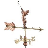 816pr golfer cottage weathervane pure copper