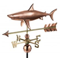 965pa shark with arrow weathervane pure copper