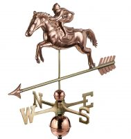 1912p jumping horse rider weathervane pure copper