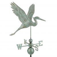 1971v1 graceful blue heron weathervane blue verde copper