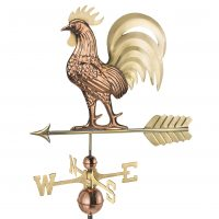 1973b proud rooster weathervane pure copper brass