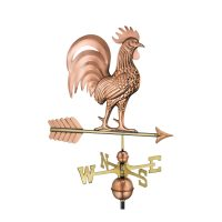 1973p proud rooster weathervane pure copper