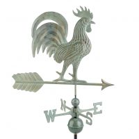 1973v1 proud rooster weathervane blue verde copper