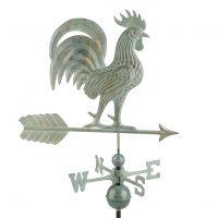 1973v1 proud rooster weathervane blue verde copper