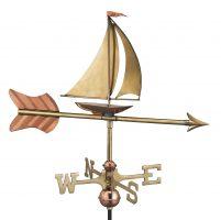 8803pr sailboat cottage weathervane pure copper