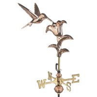 8807pr hummingbird cottage weathervane pure copper
