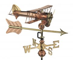 8812par biplane with arrow cottage weathervane pure copper