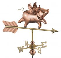 8840pr flying pig cottage weathervane pure copper