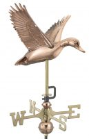8844pr flying duck cottage weathervane pure copper