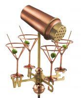 8861pr martini with glasses cottage weathervane pure copper