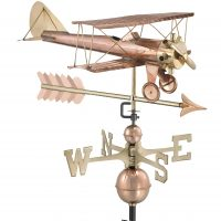 9521pa biplane with arrow weathervane pure copper
