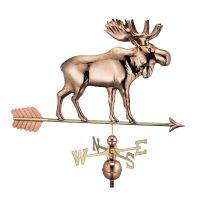 9557pa moose weathervane with arrow pure copper