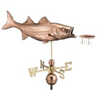 9602p bass with lure weathervane pure copper