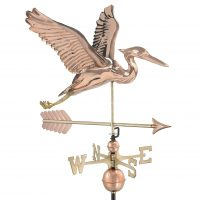 9606pa blue heron with arrow weathervane pure copper