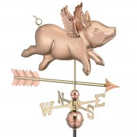 9612pa flying pig with arrow weathervane pure copper