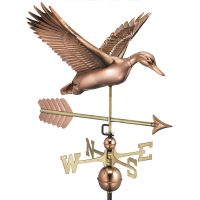 9613pa flying duck with arrow weathervane pure copper