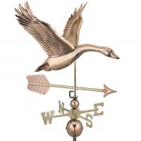 9663pa feathered goose with arrow weathervane pure copper