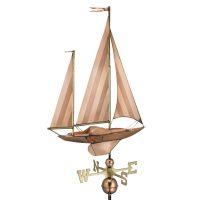 9907p large sailboat weathervane pure copper