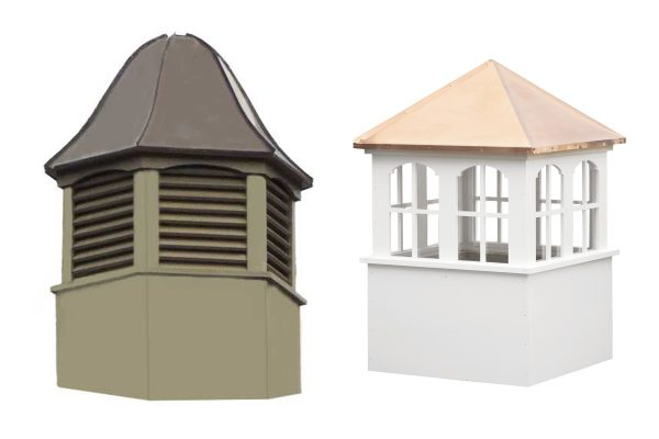 square or hexagon windows cupolas for sale